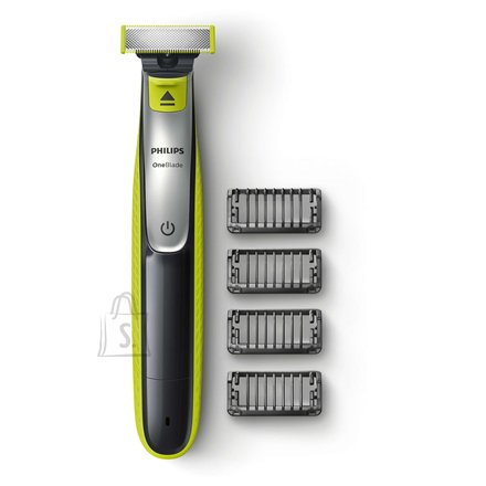 Philips Philips OneBlade Shaver and styler QP2530/20 Warranty 24 month(s), Wet use, Rechargeable, Charging time 4 h, Long lasting Li-Ion battery, Battery, Number of shaver heads/blades 1, Black/Green