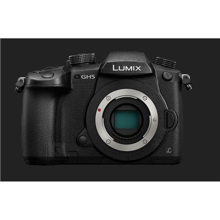 "Panasonic Panasonic LUMIX DC-GH5EG-K DSLM Camera Body, Megapixel 20.3 MP, Digital zoom 2x, 4 x, ISO 25600, Display diagonal 3.2 "", Wi-Fi, Video recording, Contrast AF system, Live MOS, Black"