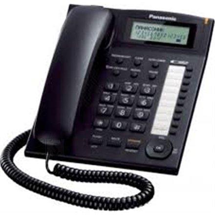 Panasonic Panasonic Corded KX-TS880FXB Built-in display, Speakerphone, 550 g, 172 x 220 x 93 mm, Black, Caller ID, Phonebook capacity 50 entries