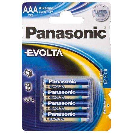 Panasonic Panasonic LR03 4-BL Panasonic EVOLTA AAA/LR03, Alkaline, 4 pc(s)