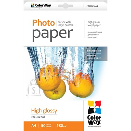 ColorWay ColorWay A4, High Glossy Photo Paper, 50 Sheets, A4, 180 g/m²