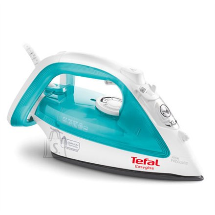Tefal Iron TEFAL EasyGliss FV3910 Blue/White, 2200 W, With cord, Continuous steam 35 g/min, Steam boost performance 110 g/min, Auto power off, Anti-drip function, Anti-scale system, Vertical steam function, Water tank capacity 270 ml