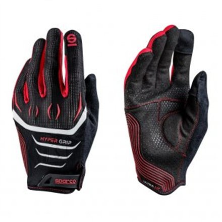 Sparco Gaming glove, Hypergrip, Black/Red, 9