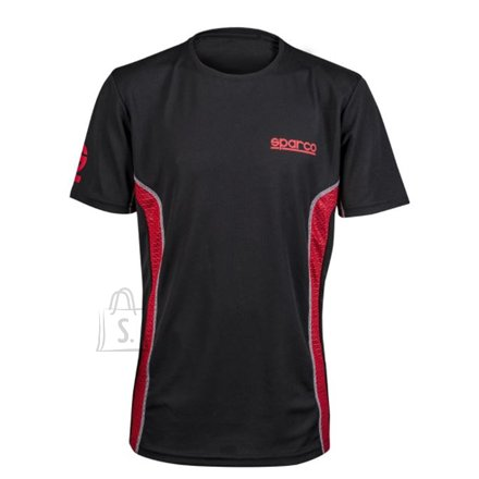 Sparco Gaming t-shirt, GT Vent, Black/Red, L