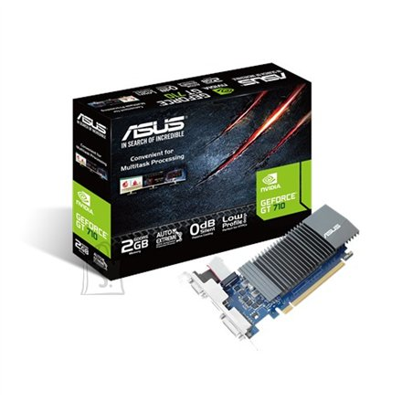 Asus Asus NVIDIA, 1 GB, GeForce GT 710, GDDR5, PCI Express 2.0, Cooling type Passive, Processor frequency 954 MHz, VGA (D-Sub) ports quantity 1, DVI-D ports quantity 1, HDMI ports quantity 1, Memory clock speed 5012 MHz