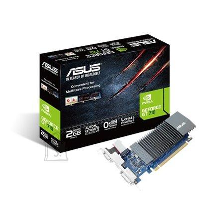 Asus Asus NVIDIA, 2 GB, GeForce GT 710, GDDR5, PCI Express 2.0, Cooling type Passive, HDMI ports quantity 1, Memory clock speed 5012 MHz, DVI-D ports quantity 1, VGA (D-Sub) ports quantity 1, Processor frequency 954 MHz