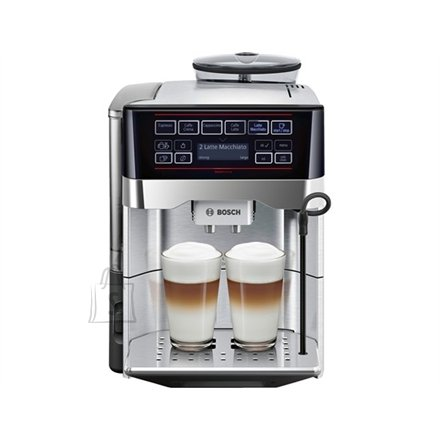 Bosch Bosch TES60729RW Pump pressure 19 bar, Built-in milk frother, Coffee maker type Fully automatic coffee machine, 1500 W, Silver