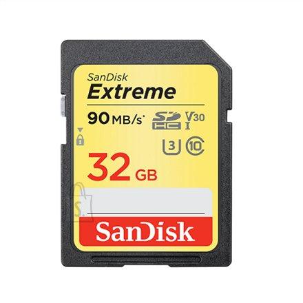 SanDisk Sandisk Extreme SDHC Card 90MB/s V30 UHS-I U3 32 GB, SDHC, Flash memory class 10