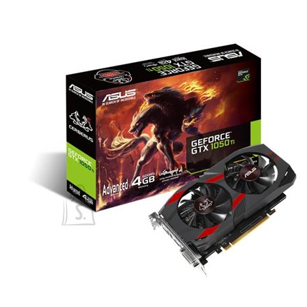 Asus Cerberus AdvancedEdition nVidia GeForce GTX1050T GDDR5 4GB videokaart