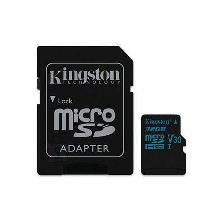 Kingston Kingston Canvas Go! UHS-I 32 GB, MicroSDHC, Flash memory class 10, SD Adapter