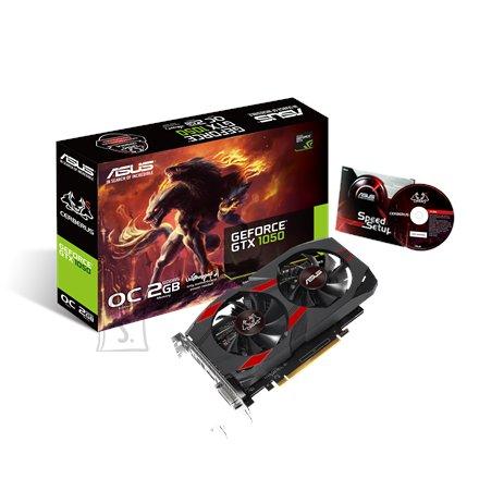 Asus nVidia GeForce GTX1050 GDDR5 2GB videokaart