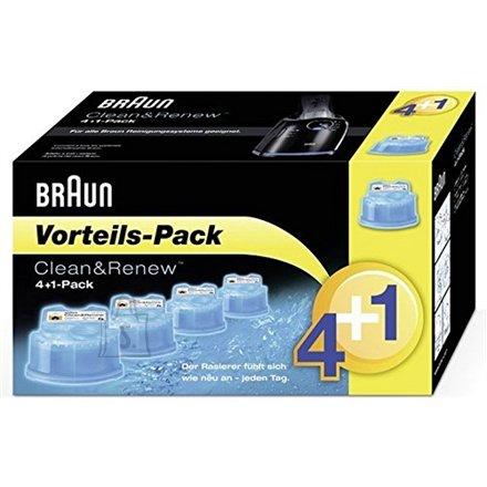 Braun Braun Clean and Renew CCR 4+1 cartridge, Blue