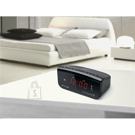 Muse Muse Clock radio PLL M-12CR Black, Alarm function