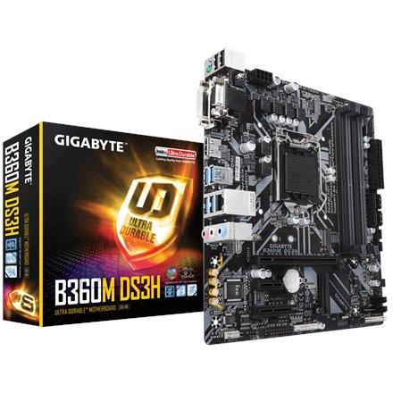 Gigabyte Gigabyte B360M DS3H 1.0 Processor family Intel, Processor socket LGA1151, DDR4 DIMM, Memory slots 4, Chipset Intel B, Micro ATX