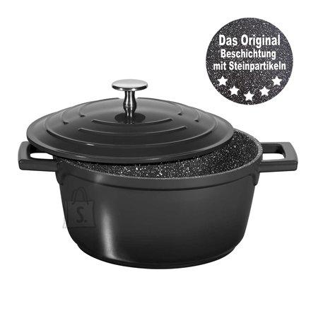 Stoneline Stoneline Roasting Pot 2.6 L, 20 cm, Black, Lid included