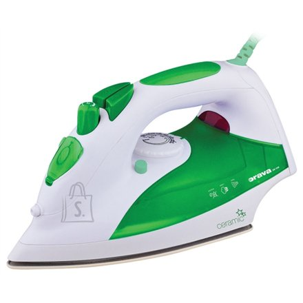 Orava ORAVA ZE-108 G White/green, 2000 W, Steam Iron, Anti-scale system, Vertical steam function, Water tank capacity 330 ml