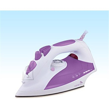 Orava ORAVA ZE-108 V White/ purple, 2000 W, Steam Iron, Anti-scale system, Vertical steam function, Water tank capacity 330 ml