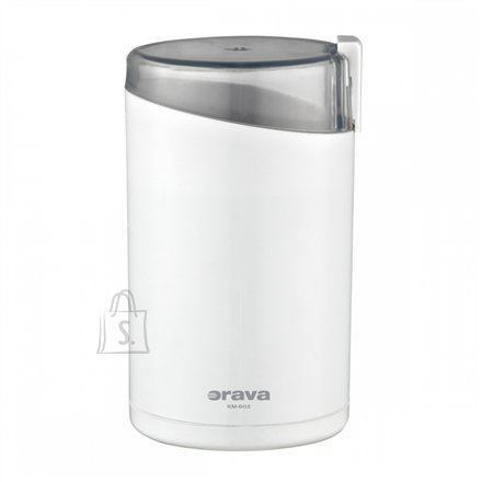 Orava ORAVA Coffee Grinder KM-802 White, 130 W, 50 g, Number of cups 6 pc(s)