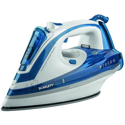 Scarlett Scarlett SC - SI30K29 Blue, 2600 W, Steam iron, Continuous steam 45 g/min, Steam boost performance 190 g/min, Auto power off, Anti-drip function, Anti-scale system, Vertical steam function, Water tank capacity 480 ml
