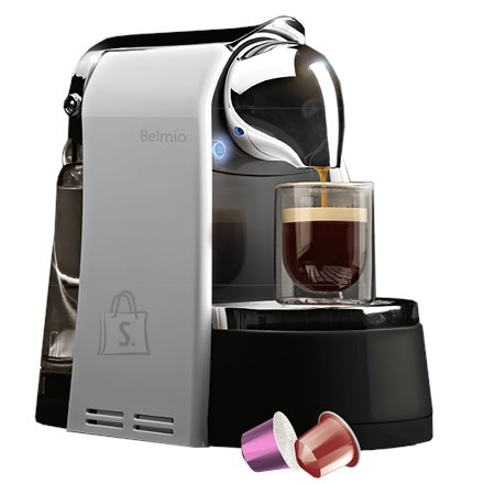 Belmoca Belmoca Capsule coffee machine for Nespresso Bello  Pump pressure 19 bar, Capsule, Titanium