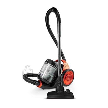 Polti Polti Cyclonic vacuum cleaner  Forzaspira C130_Plus  Bagless, Balck/ orange, 700 W, A, C, D, 76 dB, HEPA filtration system,