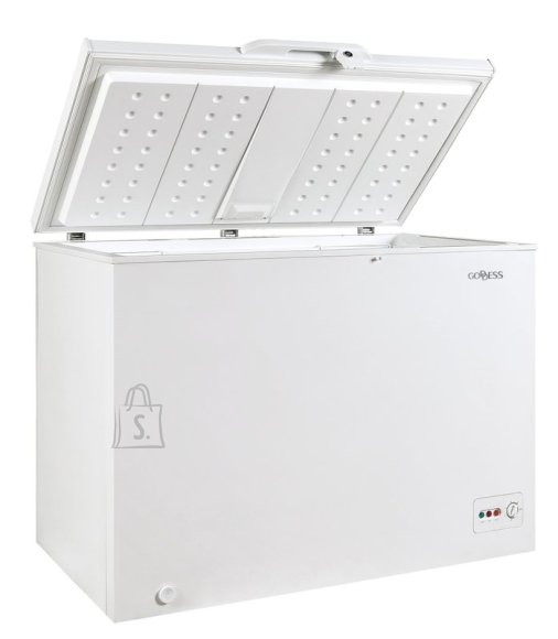 Goddess Goddess Freezer GODFTE0300WW9 Chest, Height 85 cm, Total net capacity 301 L, A++, Freezer number of shelves/baskets 1, White, Free standing