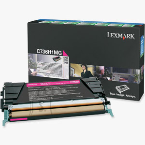 Lexmark Lexmark C736H1MG Cartridge, Magenta, 10000 pages