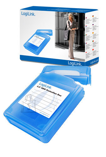 "Logilink 3,5"" HDD protection box for 1 HDD, blue Logilink"