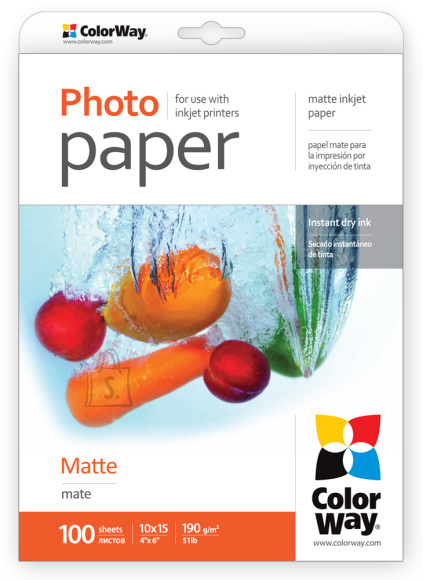 ColorWay ColorWay Matte Photo Paper, 100 sheets, 10x15, 190 g/m²