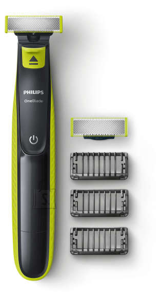 Philips Philips Shaver QP2520/30  OneBlade Charging time 8 h, Wet use, NiMH, Number of shaver heads/blades 2, Lime green/Grey