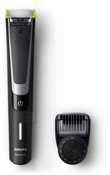 Philips Philips OneBlade Pro Shaver QP6510/20 Charging time 1 h, Wet use, Lithium Ion, Number of shaver heads/blades 1, Black/Silver