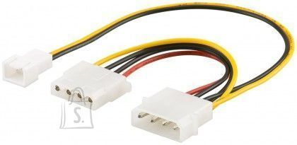Goobay Goobay 96118 PC Y power cable/adapter; 5.25 inch male to 1x 5.25inch female and 1x 2-pin fan (12 V) 0.25m
