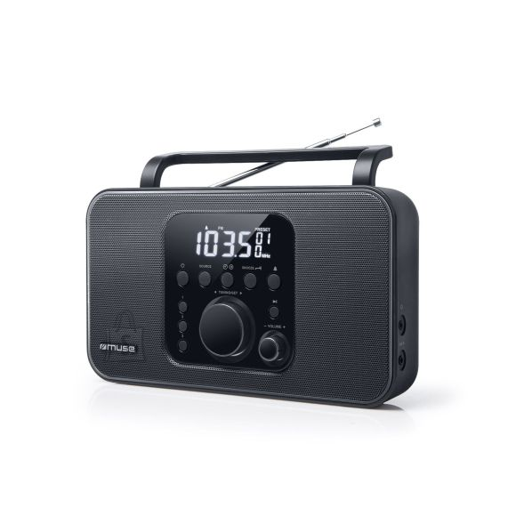 Muse Muse Radio M-091R Black, AUX in, Alarm function