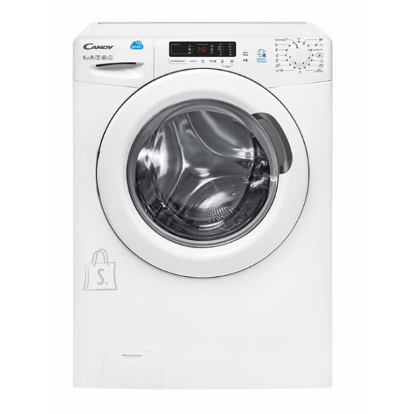 Candy Candy Washing Machine CS34 1262D3-S Front loading, Washing capacity 6 kg, 1200 RPM, A+++, Depth 34 cm, Width 60 cm, White, LED, Display, NFC,