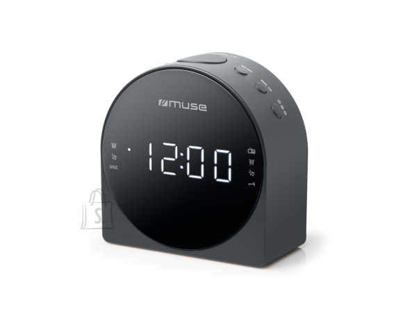 Muse Muse Dual Alarm Clock radio PLL M-185CR AUX in,
