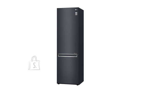 LG LG Refrigerator GBB72MCEFN Free standing, Combi, Height 203 cm, A+++, No Frost system, Fridge net capacity 277 L, Freezer net capacity 107 L, Display, 36 dB, Matt black steel