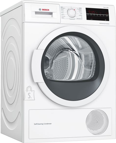 Bosch Bosch Dryer Machine WTW85L48SN  Condensed, Condensation, 8 kg, Energy efficiency class A++, Number of programs 9, Self-cleaning, White, Depth 60 cm, LED,
