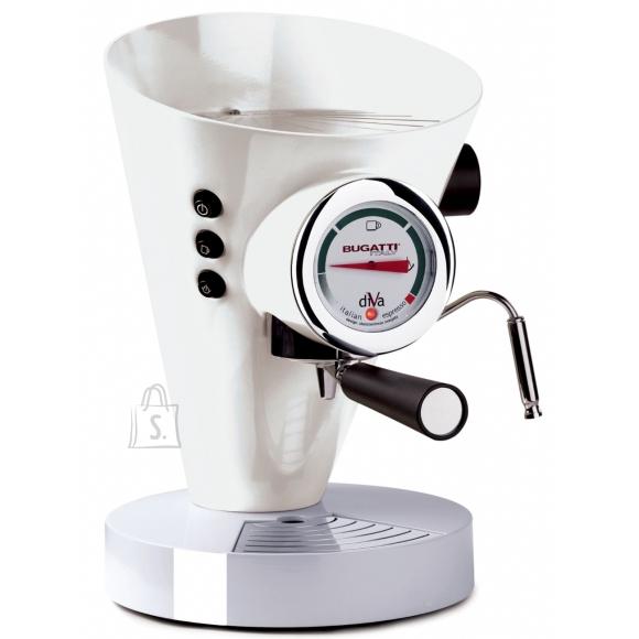 Bugatti Bugatti Diva Espresso Coffee machine 15-DIVAC1 Pump pressure 15 bar, Built-in milk frother, Semi automatic, 950 W, White