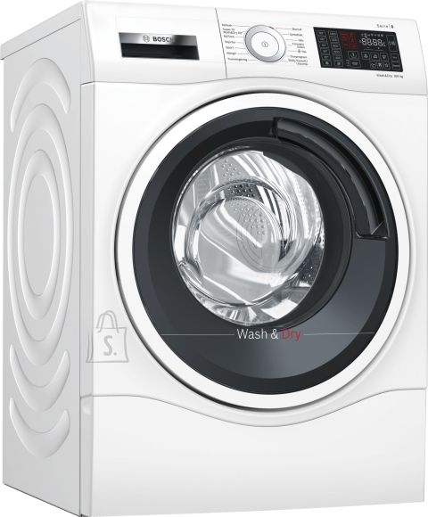 Bosch Bosch Washing mashine with dryer WDU285L9SN Front loading, Washing capacity 9 kg, Drying capacity 6 kg, 1400 RPM, A, Depth 62 cm, Width 60 cm, White, LED, Display, Yes, Drying system,