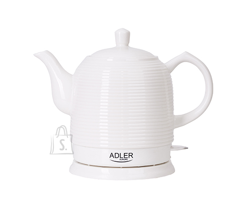 Adler Adler Kettle AD 1280 Standard, Ceramic, White, 1500 W, 360° rotational base, 1.2 L