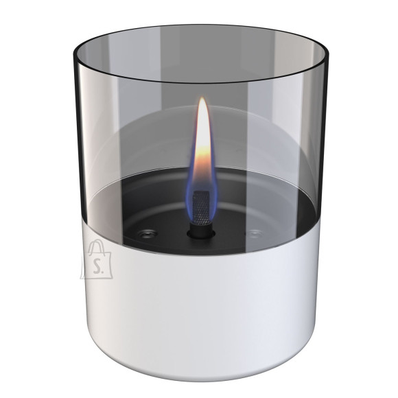 Tenderflame biokamin lauale Lilly 1W Glass Diameter 10 cm, 12 cm, 200 ml, 7 hours, White