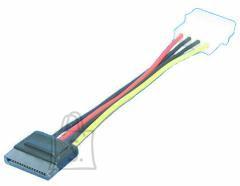 Logilink Logilink S-ATA internal power supply for HDD, SATA 15-pin, 4-pin Molex, 0.15 m, Black, Red, Yellow
