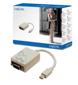 Logilink Logilink Mini DisplayPort to VGA Adapter: HD DSUB 15-pin FM, Mini DisplayPort M