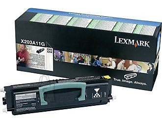 Lexmark Lexmark X203A11G Cartridge, Black, 2500 pages