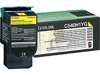 Lexmark Lexmark C540H1YG Cartridge, Yellow, 2000 pages