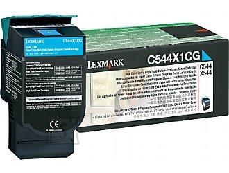 Lexmark Lexmark C544, X544 Cyan Extra High Yield Return Program Toner Cartridge Cartridge, Cyan, 4000 pages