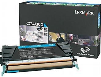 Lexmark Lexmark C734A1CG Cartridge, Cyan, 6000 pages