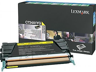 Lexmark Lexmark C734A1YG Cartridge, Yellow, 6000 pages