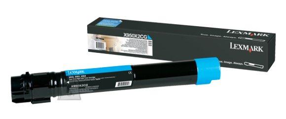 Lexmark Lexmark X950X2CG Cartridge, Cyan, 22000 pages