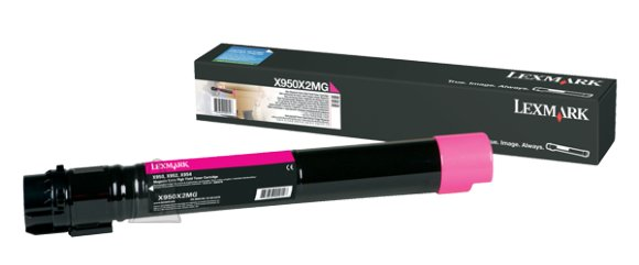 Lexmark Lexmark X950X2MG Cartridge, Magenta, 22000 pages